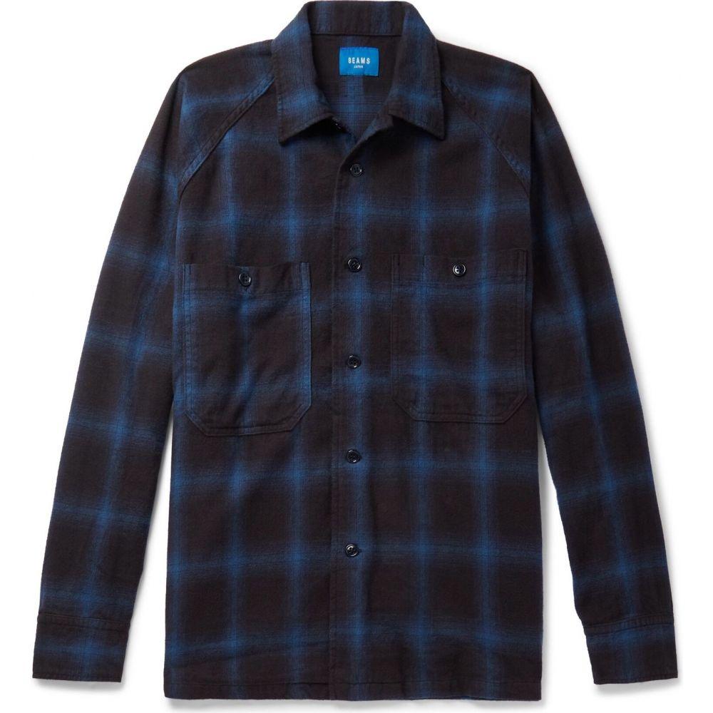 ビームス BEAMS メンズ シャツ トップス【checked shirt】Blue