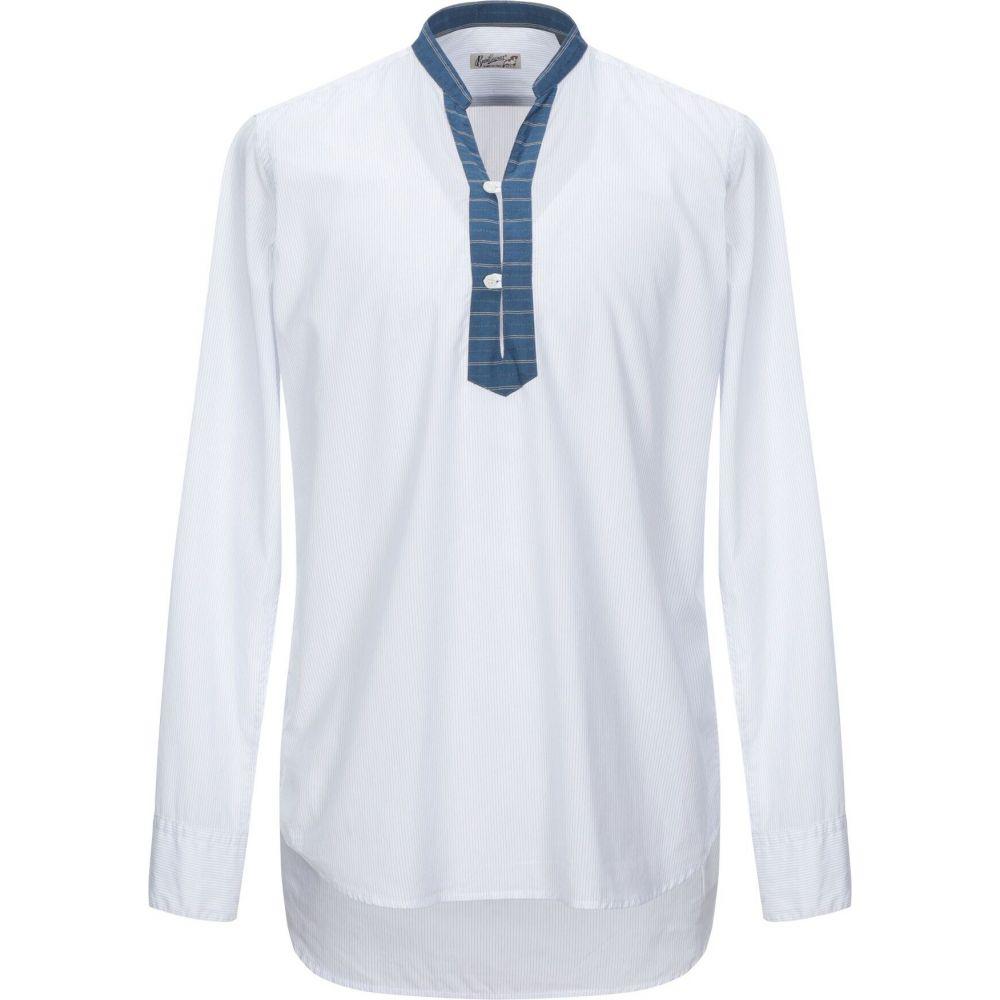 ベヴィラクア BEVILACQUA メンズ シャツ トップス【striped shirt】White