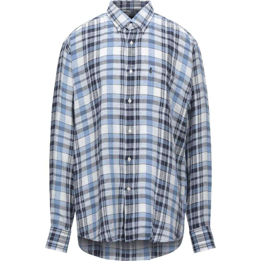 バブアー BARBOUR メンズ シャツ トップス【checked shirt】Sky blue
