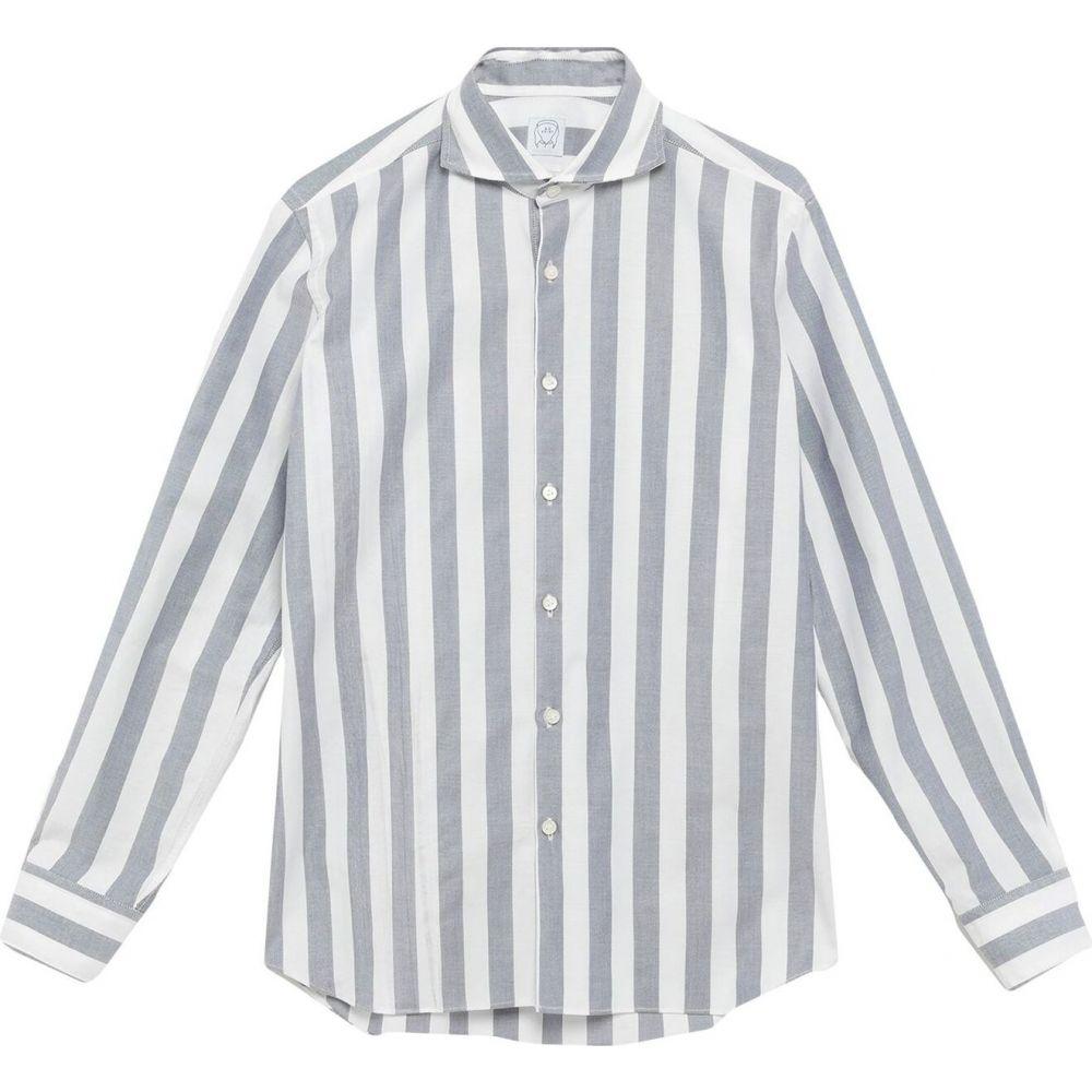 アレッサンドロ ゲラルディ ALESSANDRO GHERARDI メンズ シャツ トップス【striped shirt】Dark blue