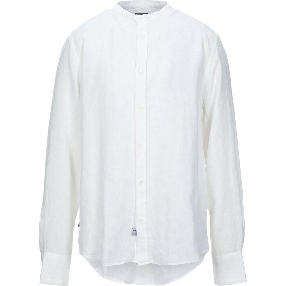 ブラウアー BLAUER メンズ シャツ トップス【linen shirt】White