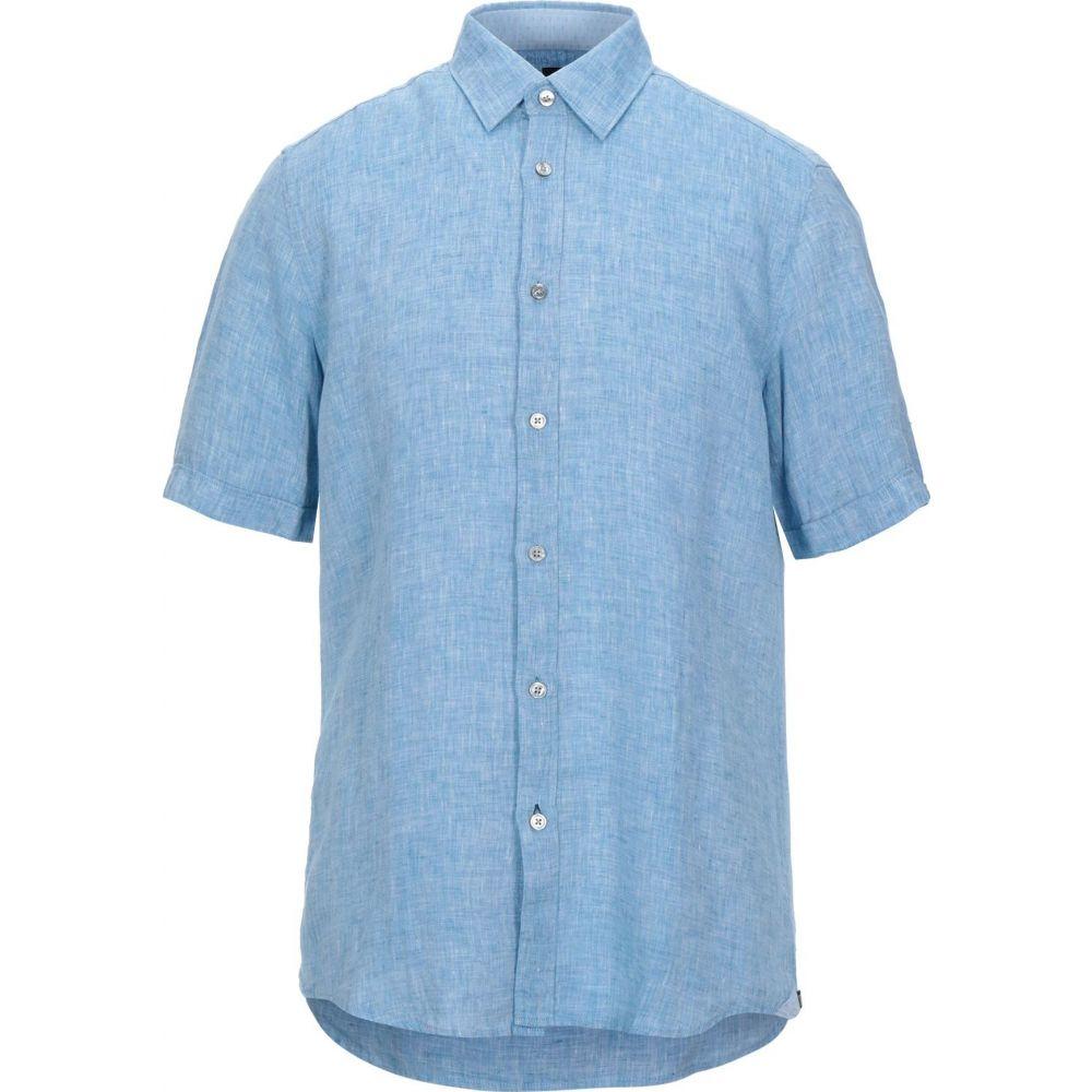 ヒューゴ ボス BOSS HUGO BOSS メンズ シャツ トップス【linen shirt】Sky blue