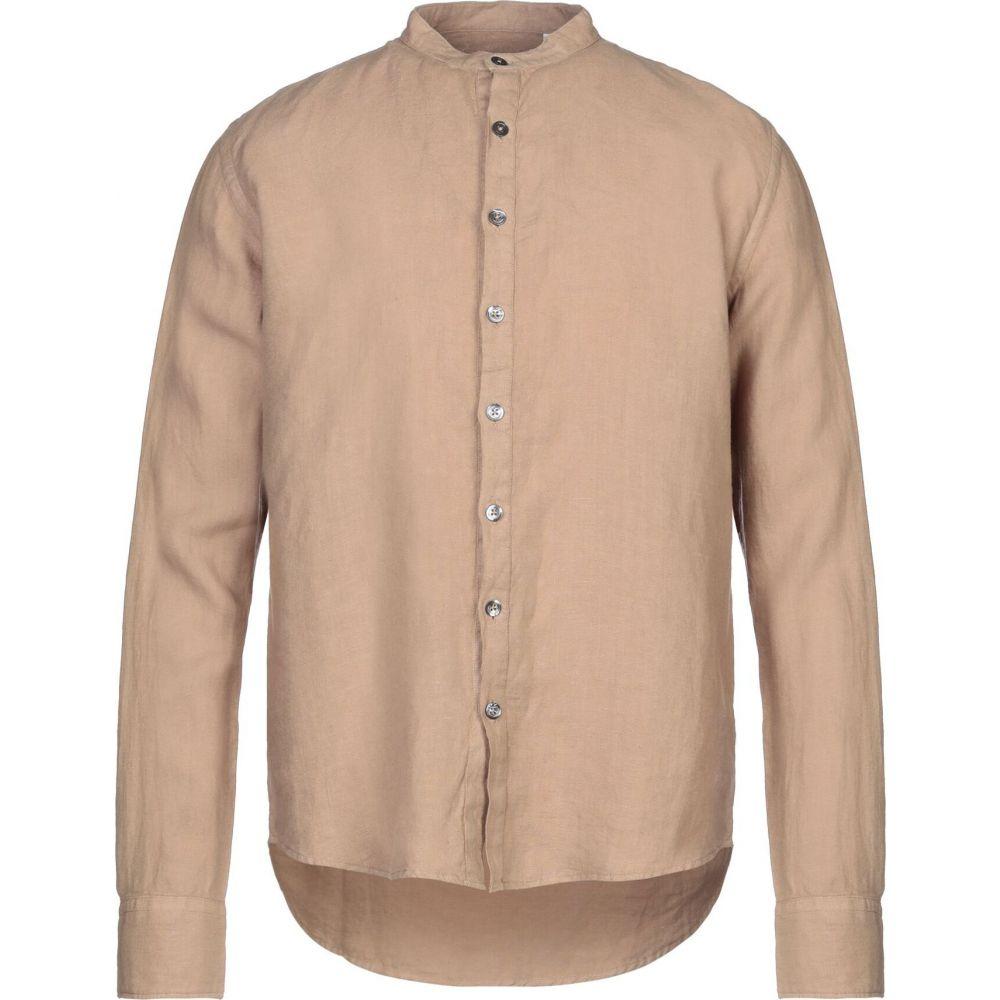 アルファス テューディオ ALPHA STUDIO メンズ シャツ トップス【linen shirt】Sand