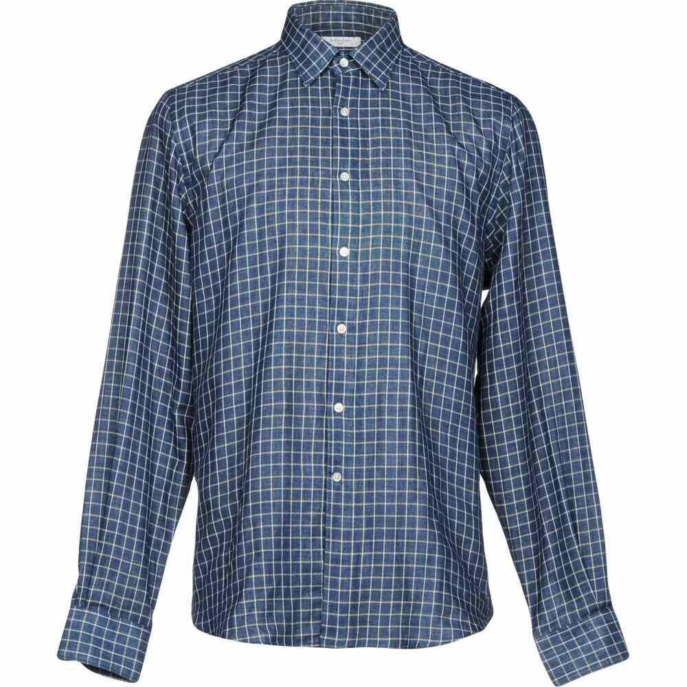 ボリオリ BOGLIOLI メンズ シャツ トップス【checked shirt】Blue