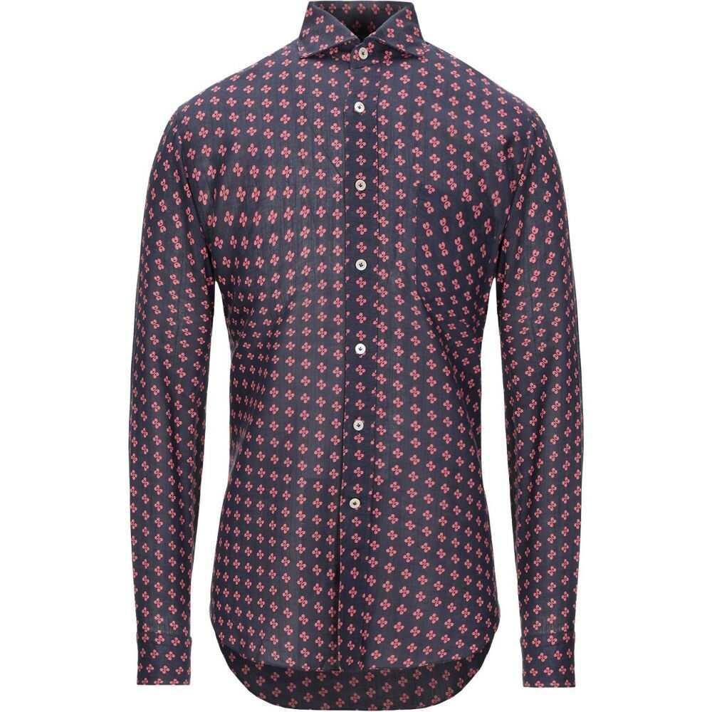 アレッサンドロ ゲラルディ ALESSANDRO GHERARDI メンズ シャツ トップス【patterned shirt】Dark blue