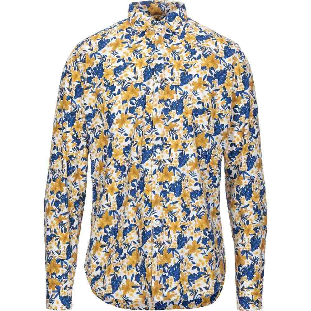 ベヴィラクア BEVILACQUA メンズ シャツ トップス【patterned shirt】Ocher