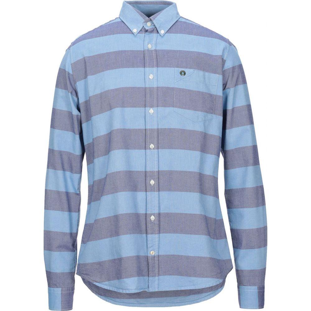 バブアー BARBOUR メンズ シャツ トップス【striped shirt】Pastel blue