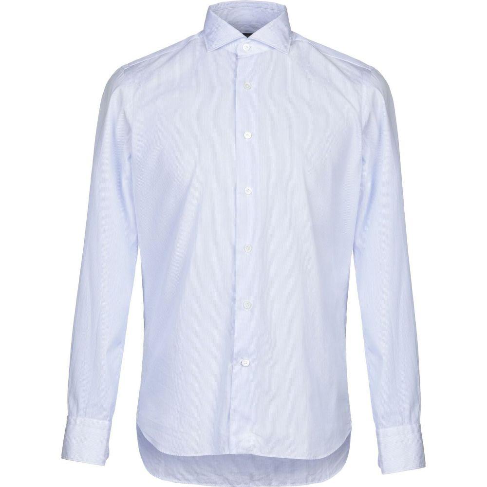アレッサンドロ ゲラルディ ALESSANDRO GHERARDI メンズ シャツ トップス【striped shirt】Sky blue