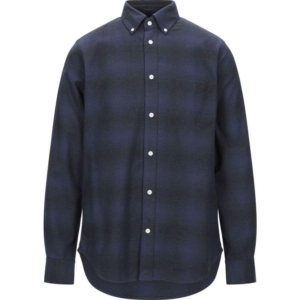 ベルローズ BELLEROSE メンズ シャツ トップス【patterned shirt】Dark blue