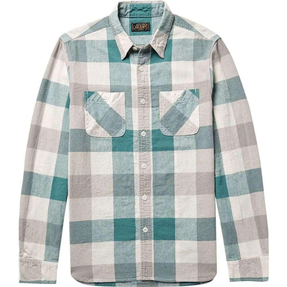 ビームス BEAMS メンズ シャツ トップス【checked shirt】Green