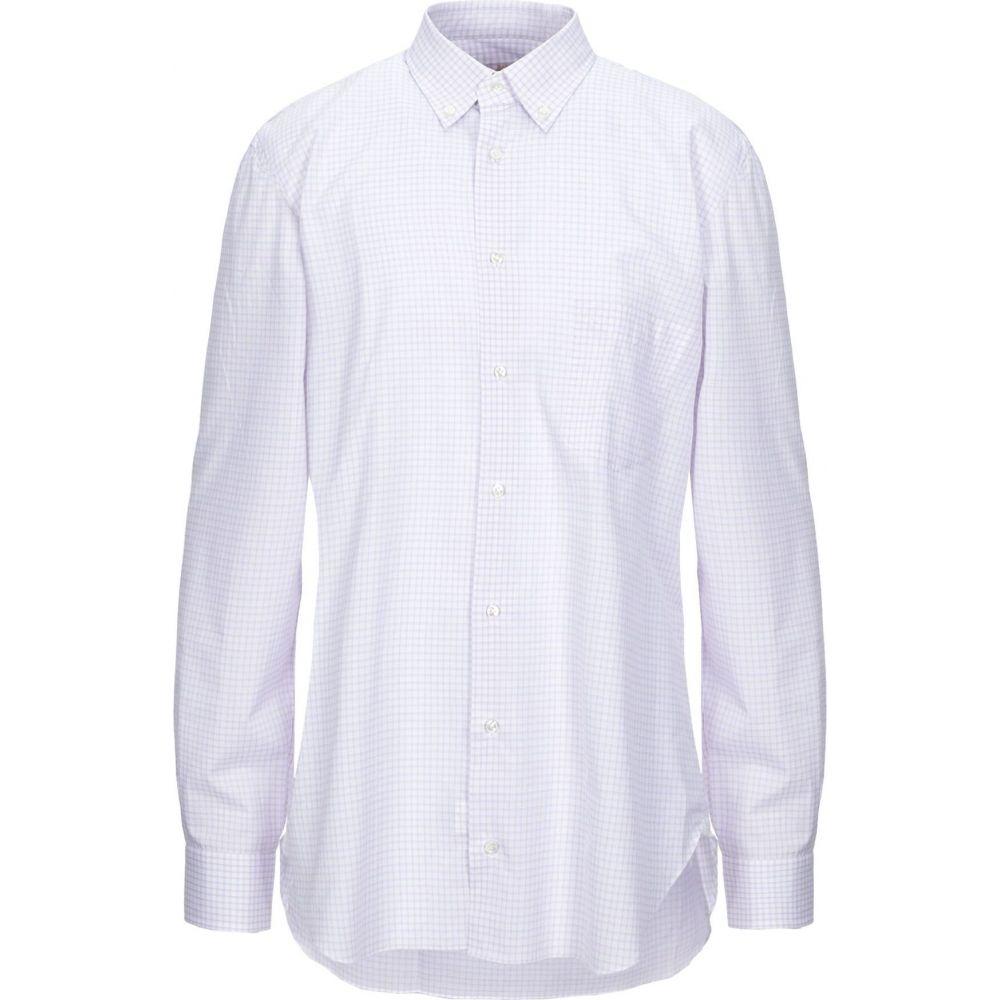 バルバ BARBA Napoli メンズ シャツ トップス【checked shirt】Lilac