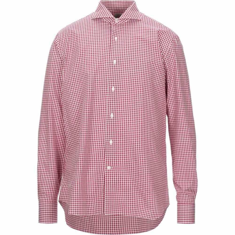 アレッサンドロ ゲラルディ ALESSANDRO GHERARDI メンズ シャツ トップス【checked shirt】Red