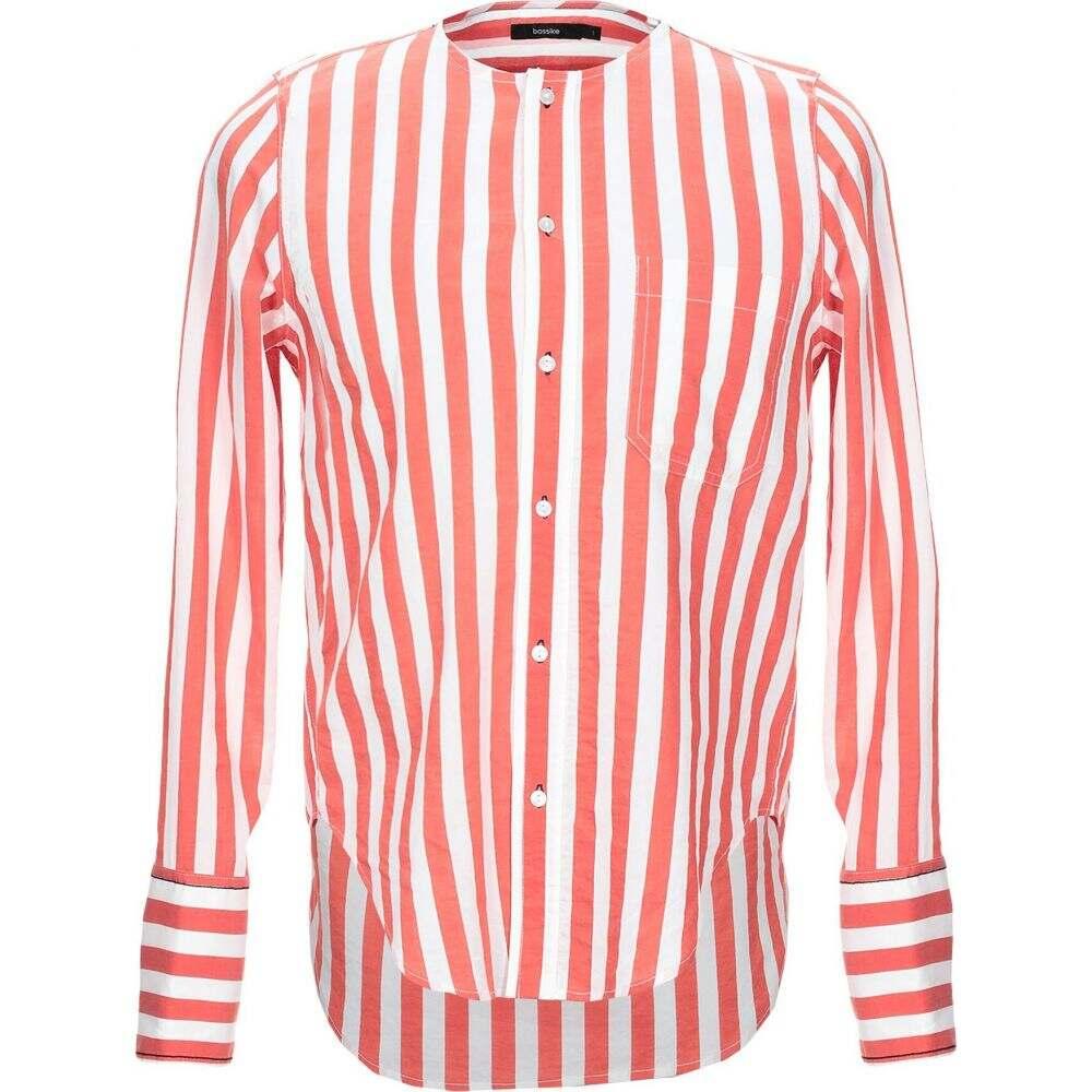 ベイシーク BASSIKE メンズ シャツ トップス【striped shirt】Red