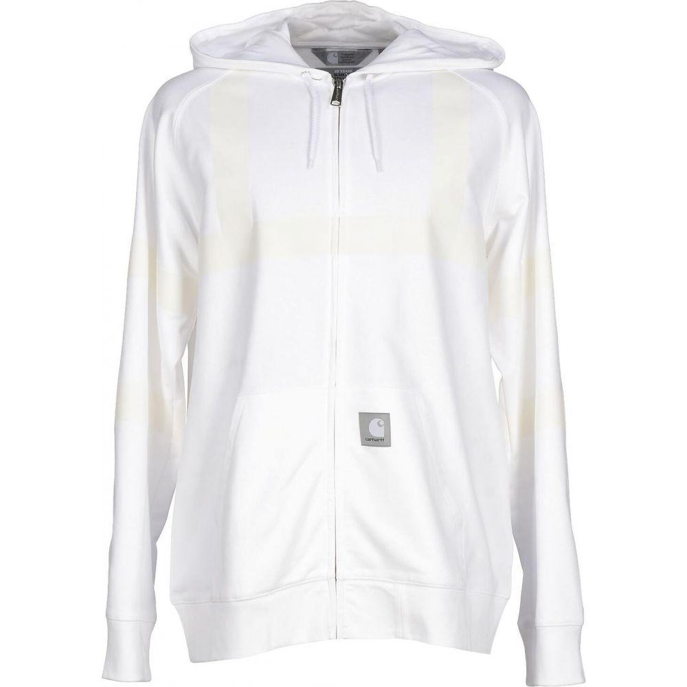 カーハート メンズ トップス パーカー White 割引 サイズ交換無料 hooded 2020春夏新作 CARHARTT sweatshirt