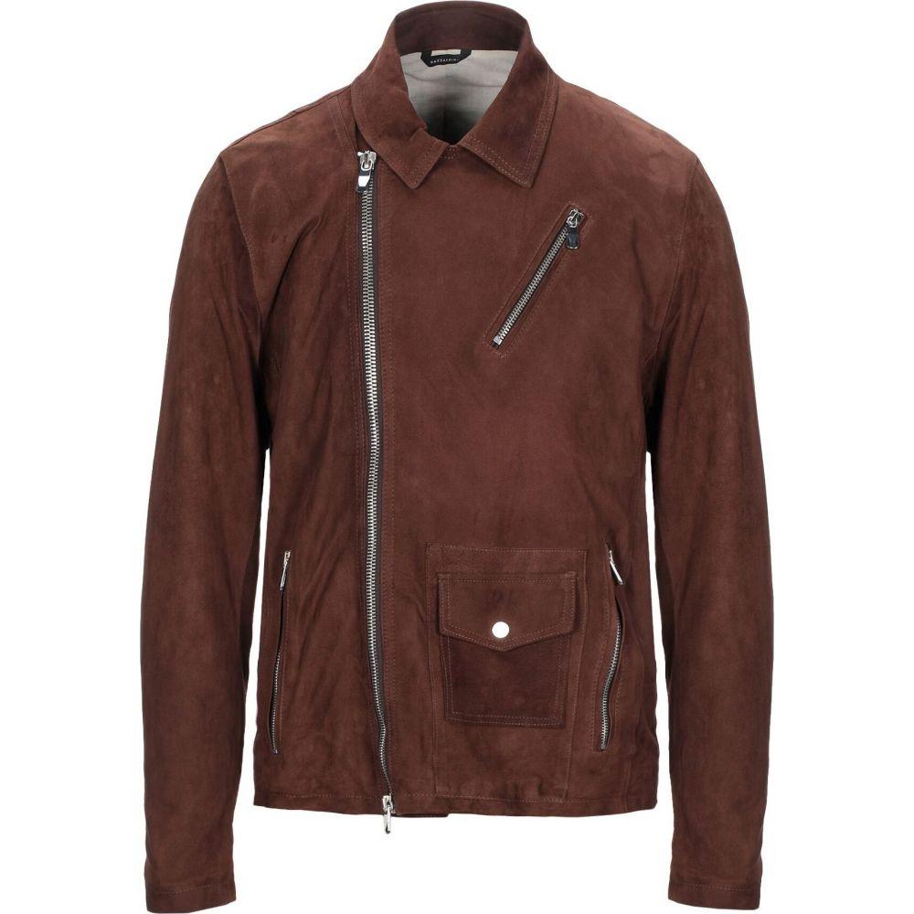 ガッザリーニ GAZZARRINI メンズ ジャケット ライダース アウター【biker jacket】Cocoa