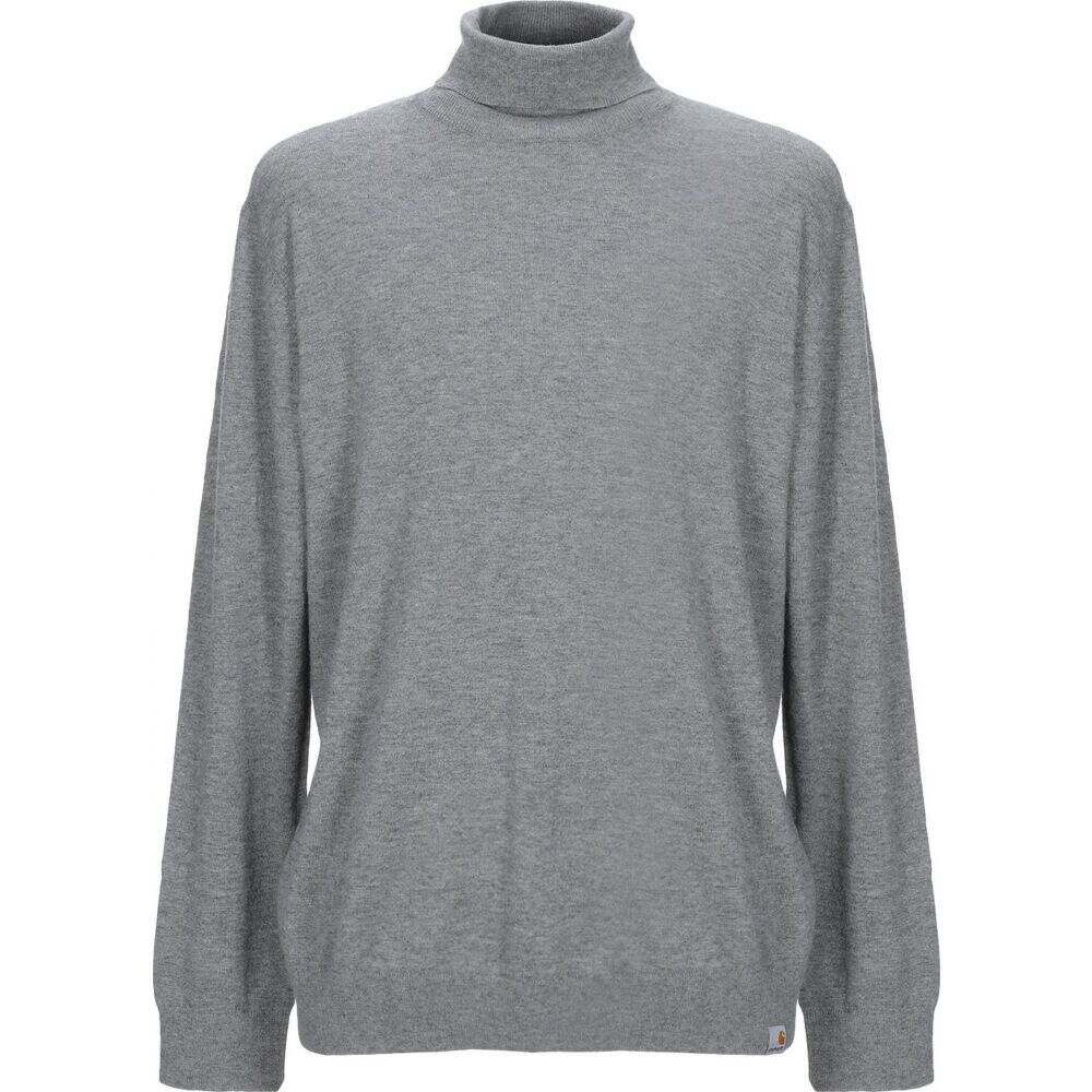 カーハート メンズ 全国一律送料無料 トップス ●手数料無料!! ニット セーター サイズ交換無料 turtleneck CARHARTT Grey