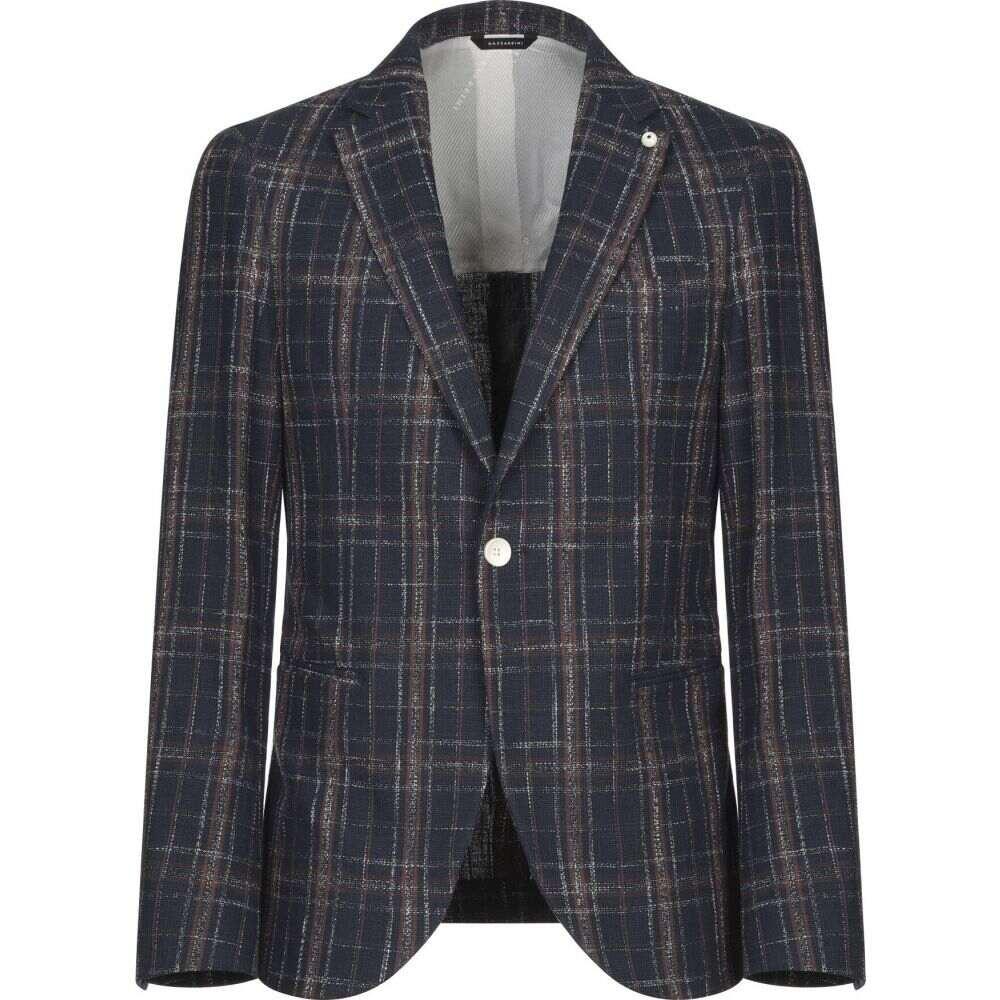 ガッザリーニ GAZZARRINI メンズ スーツ・ジャケット アウター【blazer】Dark blue