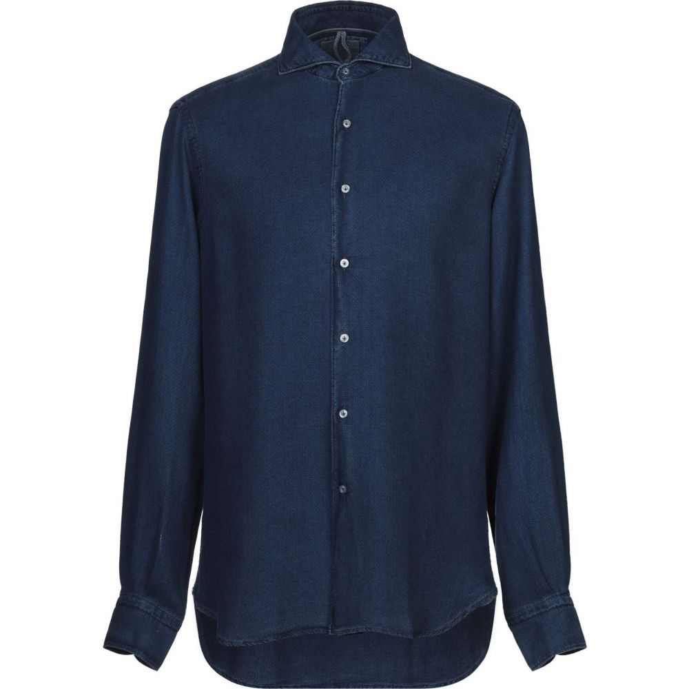 シャツ メンズ ORIAN オリアン shirt】Blue トップス【solid color