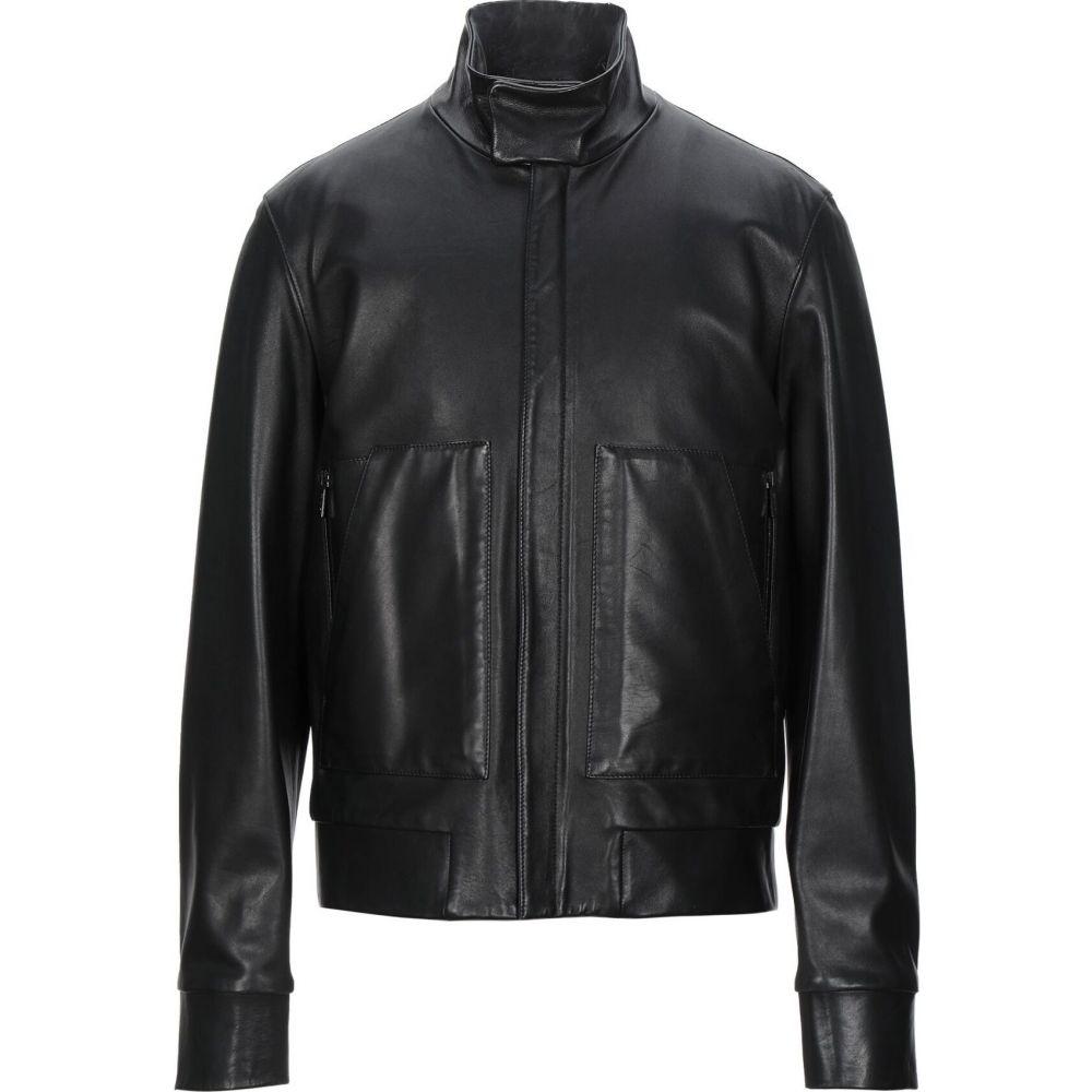 jacket】Black KLEIN レザージャケット CALVIN カルバンクライン メンズ COLLECTION アウター【leather