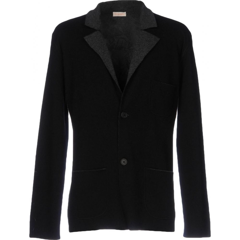 CRUCIANI メンズ クルチアーニ アウター【blazer】Black スーツ・ジャケット