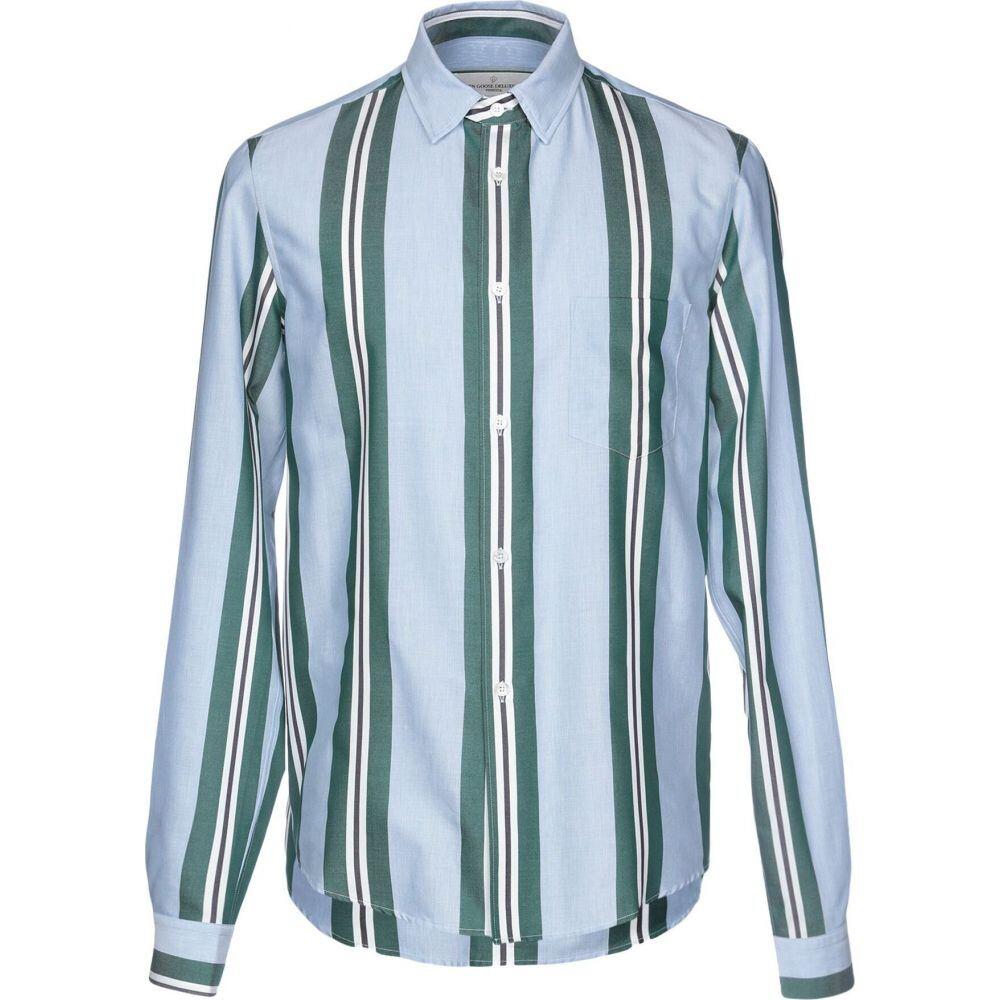 ゴールデン グース GOLDEN GOOSE DELUXE BRAND メンズ シャツ トップス【striped shirt】Sky blue