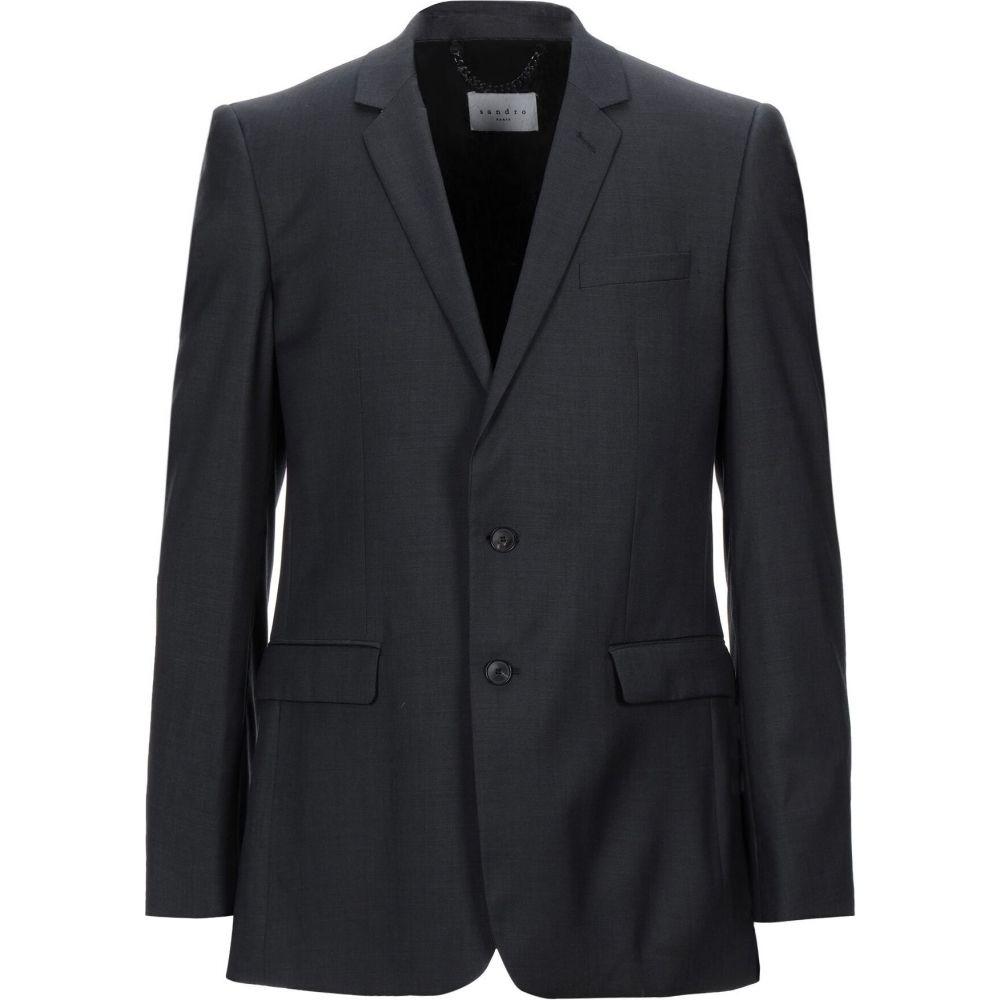 サンドロ メンズ アウター スーツ ジャケット blazer SANDRO grey サイズ交換無料 上質 Steel 爆安プライス