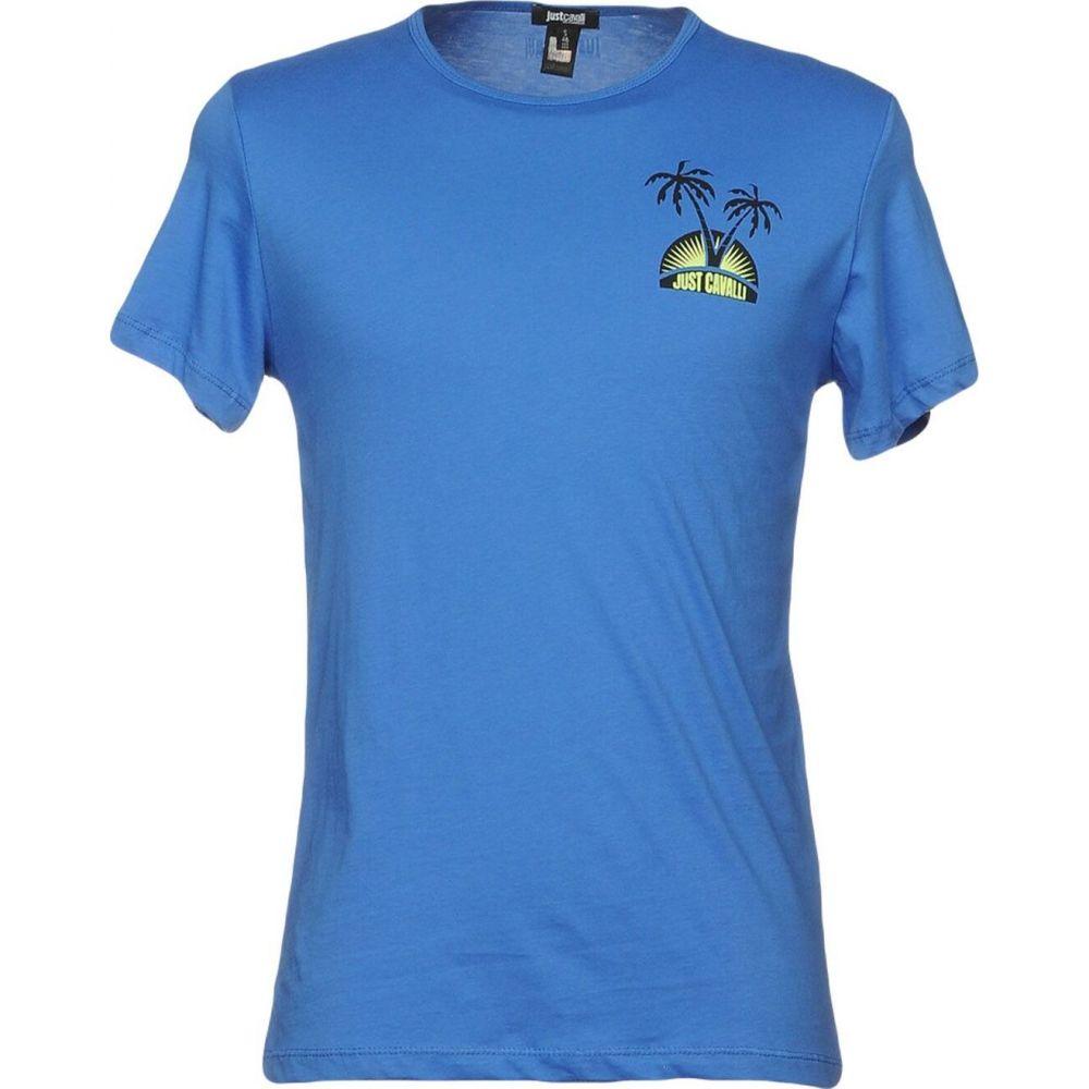 有名ブランド ジャスト メンズ カヴァリ JUST CAVALLI メンズ Tシャツ ジャスト トップス【t-shirt CAVALLI】Blue, 各務原市:9de40dd5 --- kanvasma.com