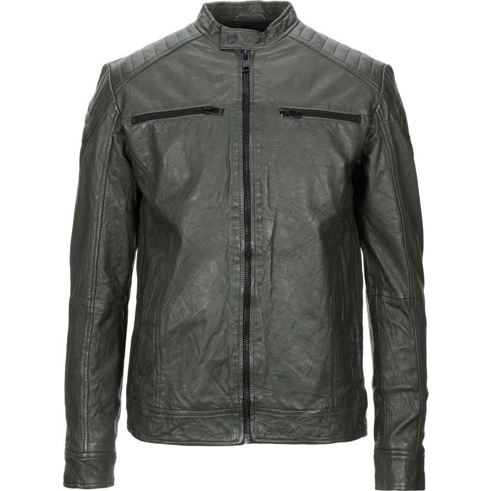 ジャック アンド ジョーンズ JACK & JONES メンズ ジャケット ライダース アウター【biker jacket】Military green