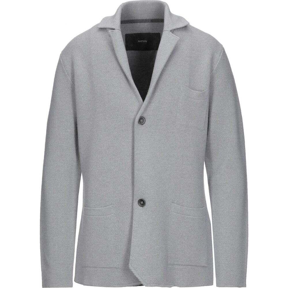 アルファス テューディオ ALPHA STUDIO メンズ スーツ・ジャケット アウター【blazer】Light grey