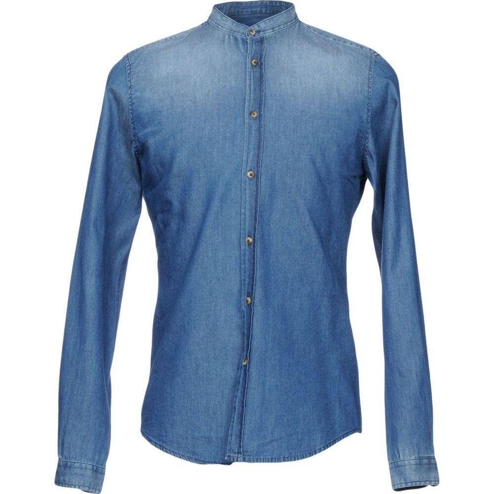 アルファス テューディオ ALPHA STUDIO メンズ シャツ デニム トップス【denim shirt】Blue
