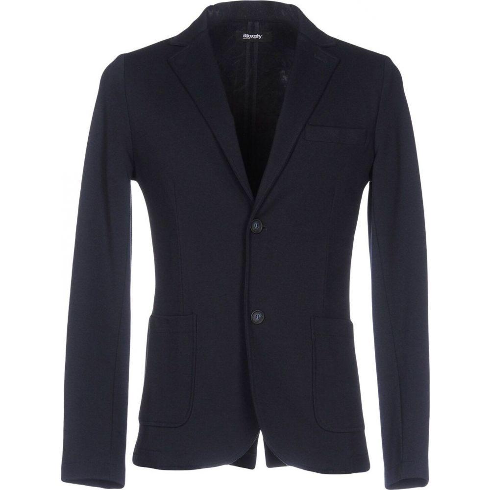 スティロソフィー インダストリー STILOSOPHY INDUSTRY メンズ スーツ・ジャケット アウター【blazer】Dark blue