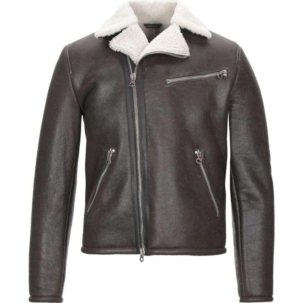 【WEB限定】 スチュアート STEWART メンズ ジャケット ライダース アウター【biker jacket】Dark brown, 煎り屋   珈琲の家 2a759adb