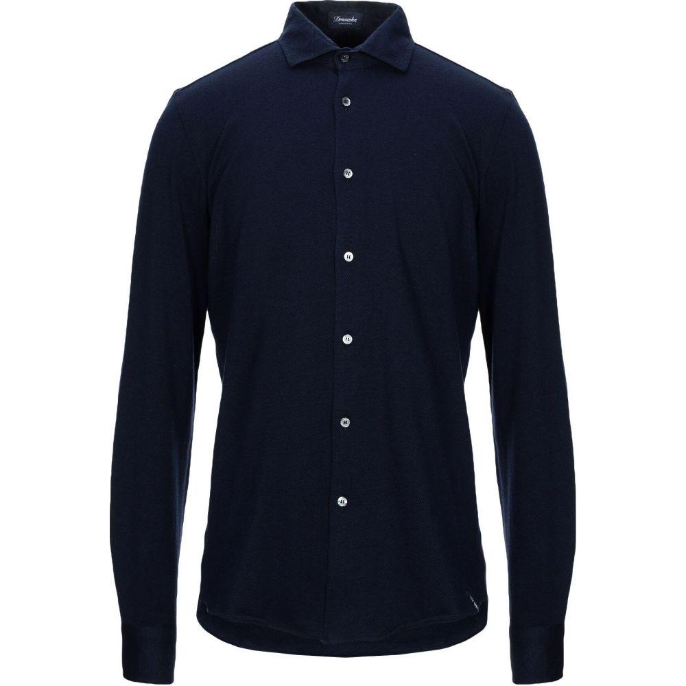 ドルモア DRUMOHR メンズ シャツ トップス【patterned shirt】Dark blue