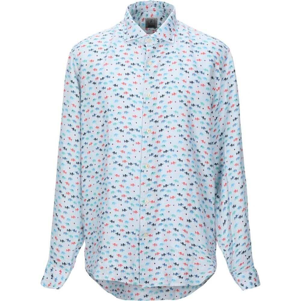 ドルモア DRUMOHR メンズ シャツ トップス【linen shirt】Sky blue