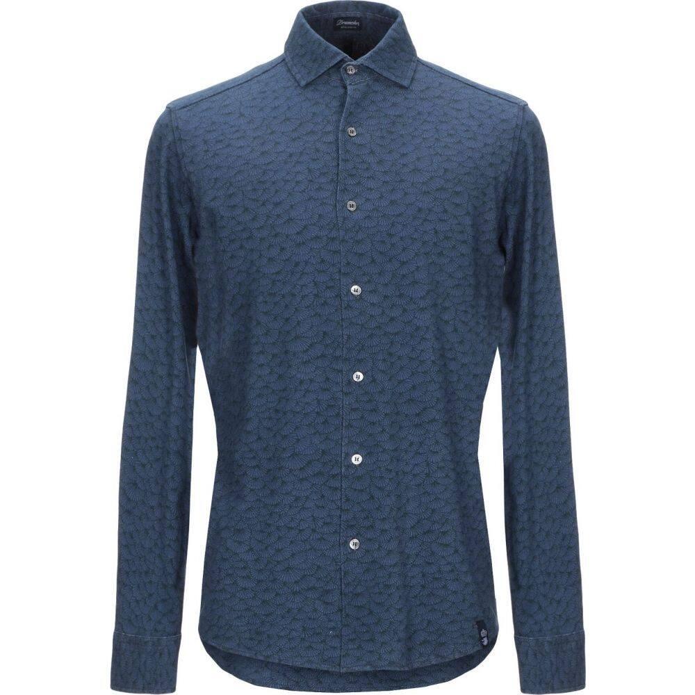 ドルモア DRUMOHR メンズ シャツ トップス【patterned shirt】Blue