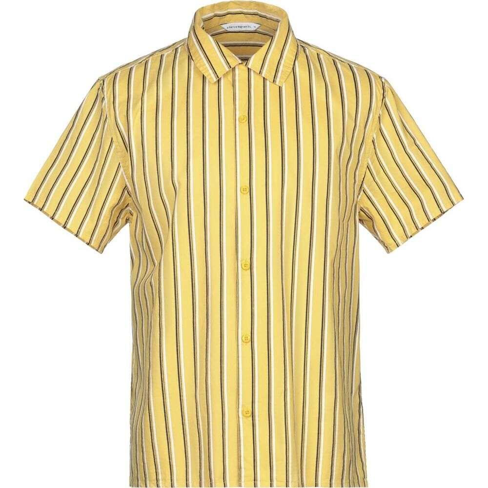 イレブン パリ ELEVEN PARIS メンズ シャツ トップス【striped shirt】Ocher