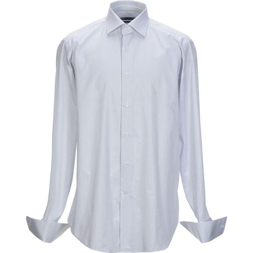 キャリバン CALIBAN メンズ シャツ トップス【striped shirt】Grey