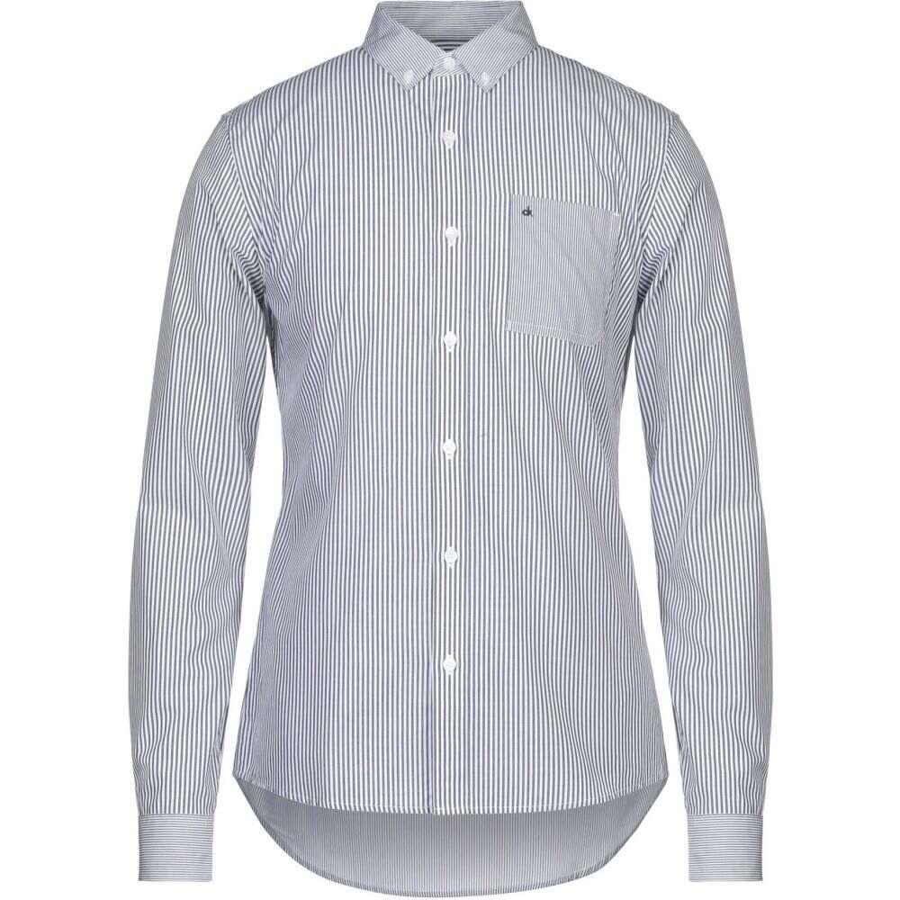 カルバンクライン CALVIN KLEIN JEANS メンズ シャツ トップス【striped shirt】Slate blue