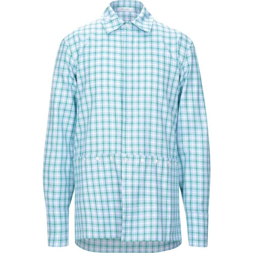 デラダ DELADA メンズ シャツ トップス【checked shirt】Sky blue