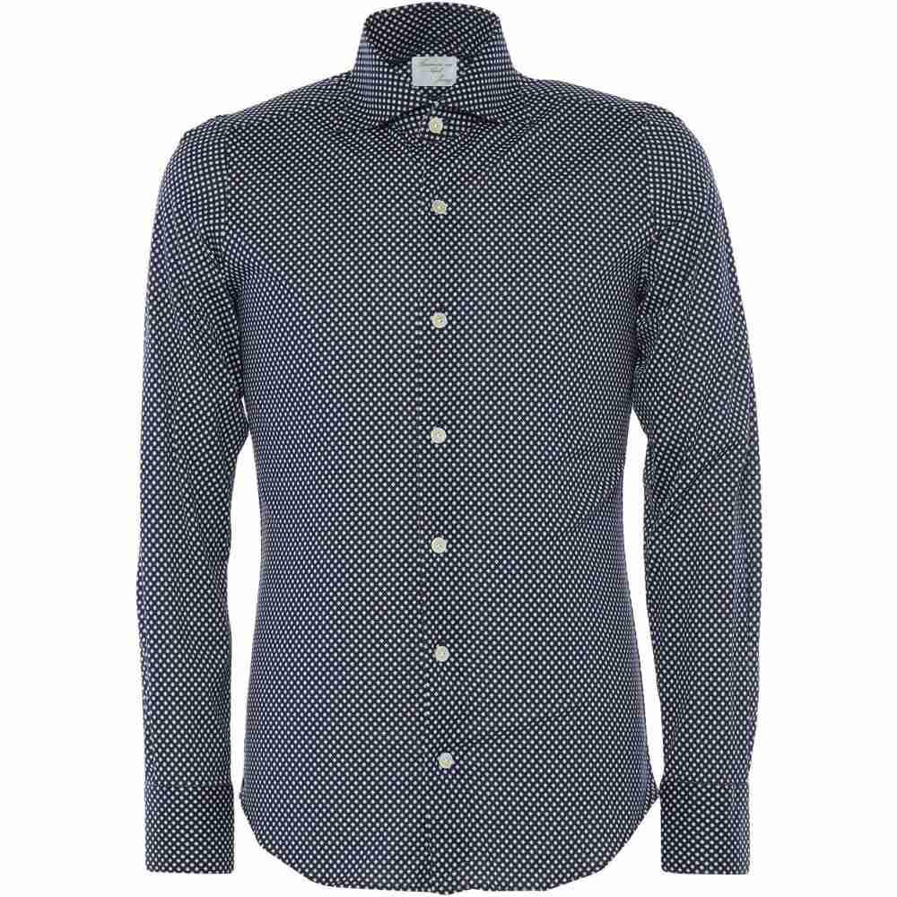 フィナモレ FINAMORE 1925 メンズ シャツ トップス【patterned shirt】Dark blue