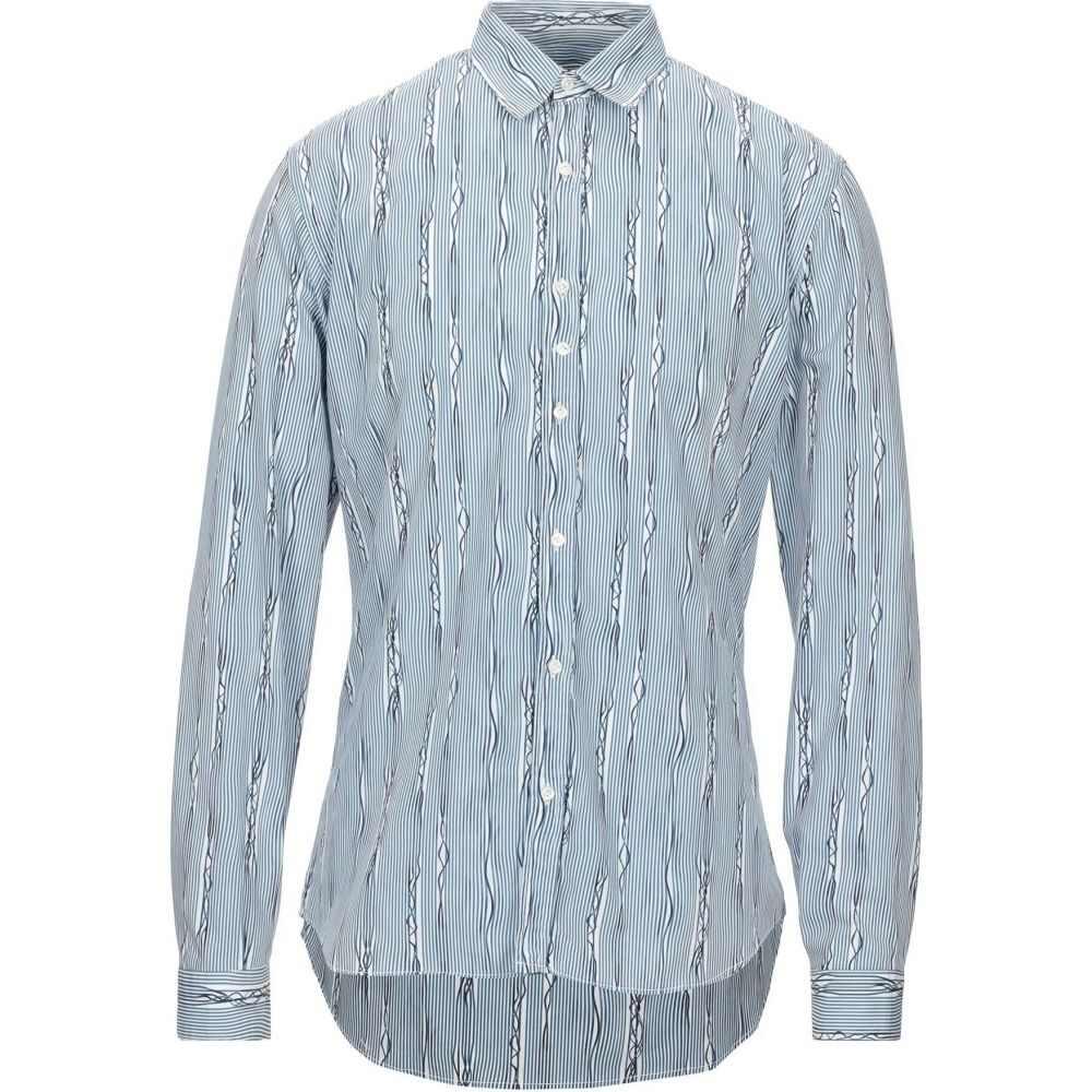 コストメイン COSTUMEIN メンズ シャツ トップス【striped shirt】Sky blue