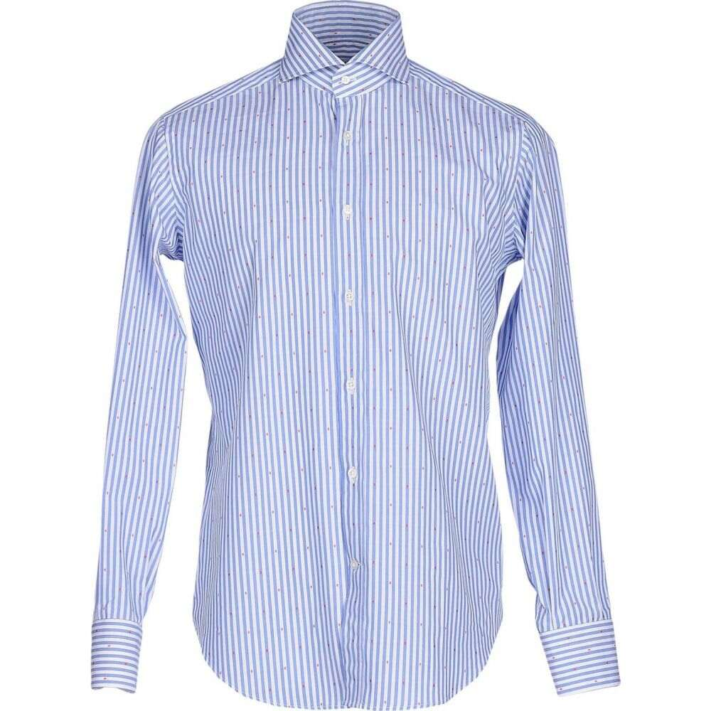 キャリバン CALIBAN メンズ シャツ トップス【striped shirt】Azure