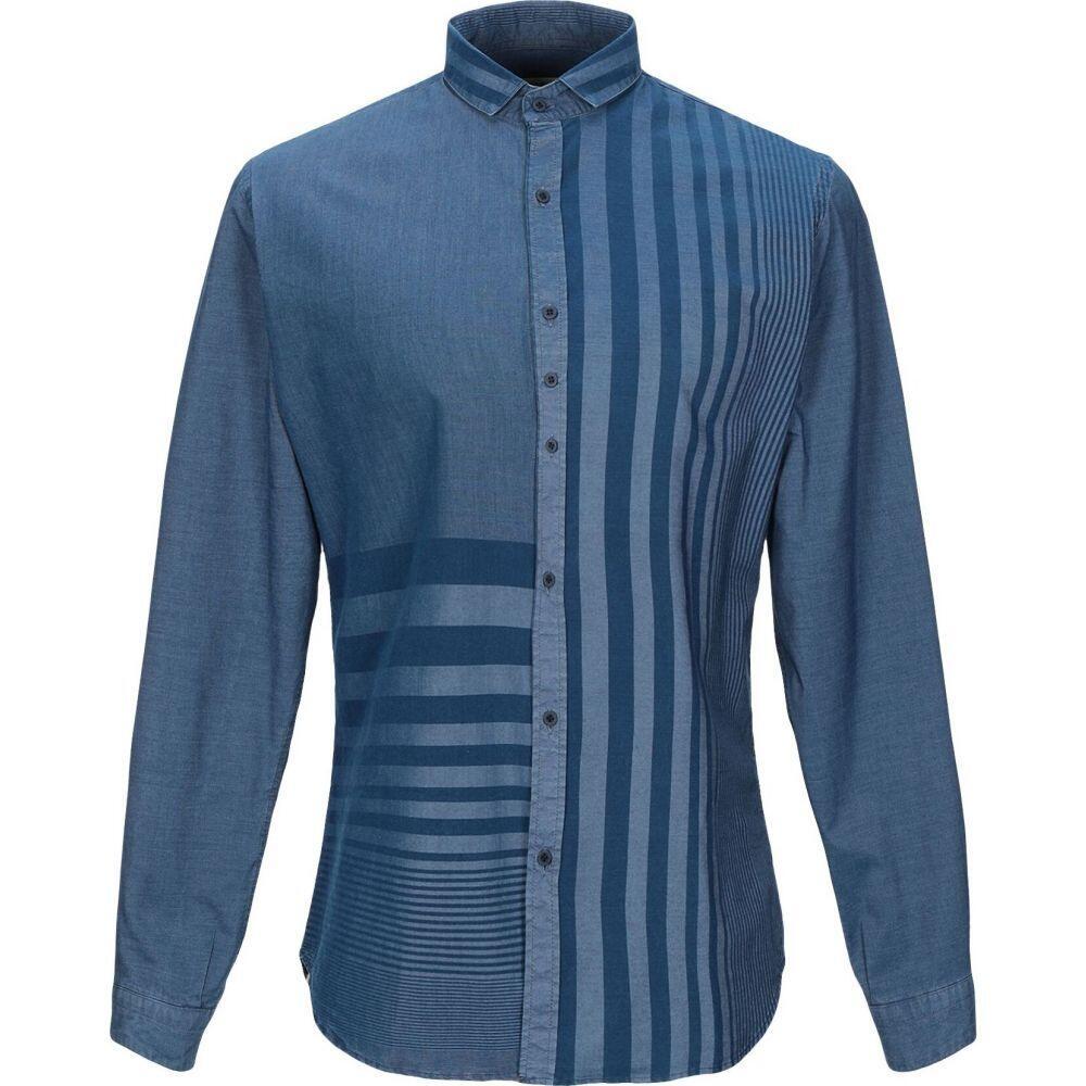 コストメイン COSTUMEIN メンズ シャツ トップス【striped shirt】Blue