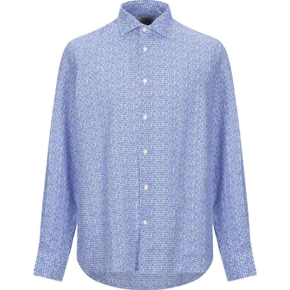 ドルモア DRUMOHR メンズ シャツ トップス【linen shirt】Blue