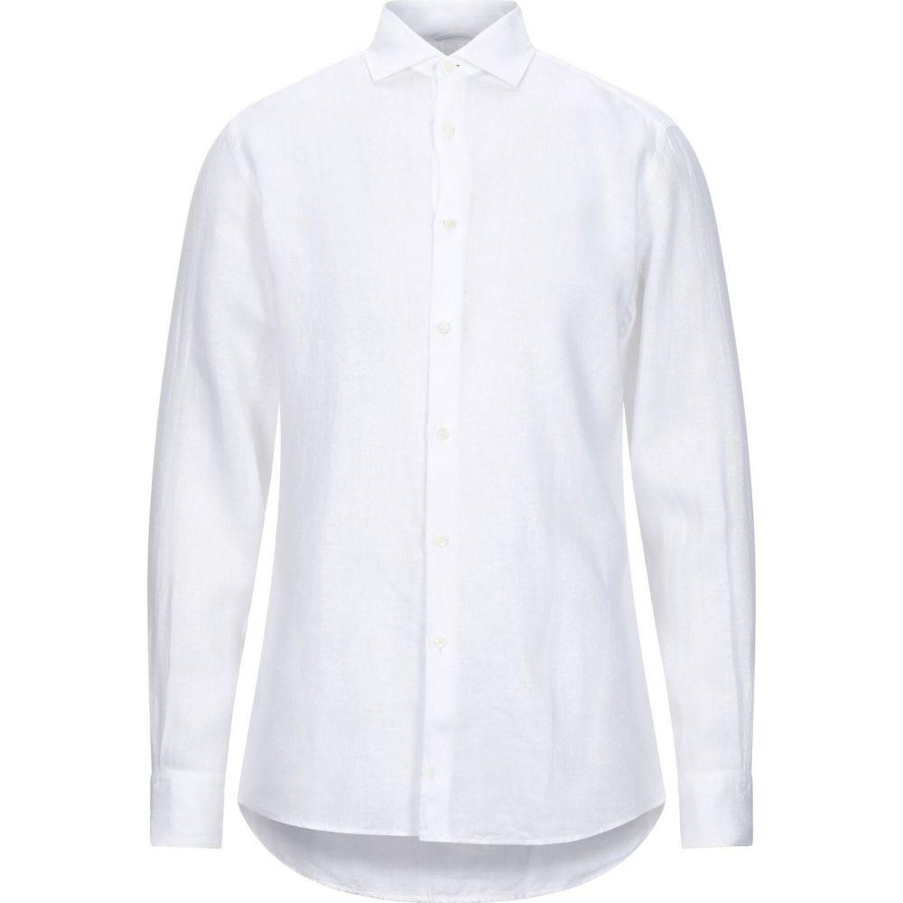 エルメネジルド ゼニア ERMENEGILDO ZEGNA メンズ シャツ トップス【linen shirt】White