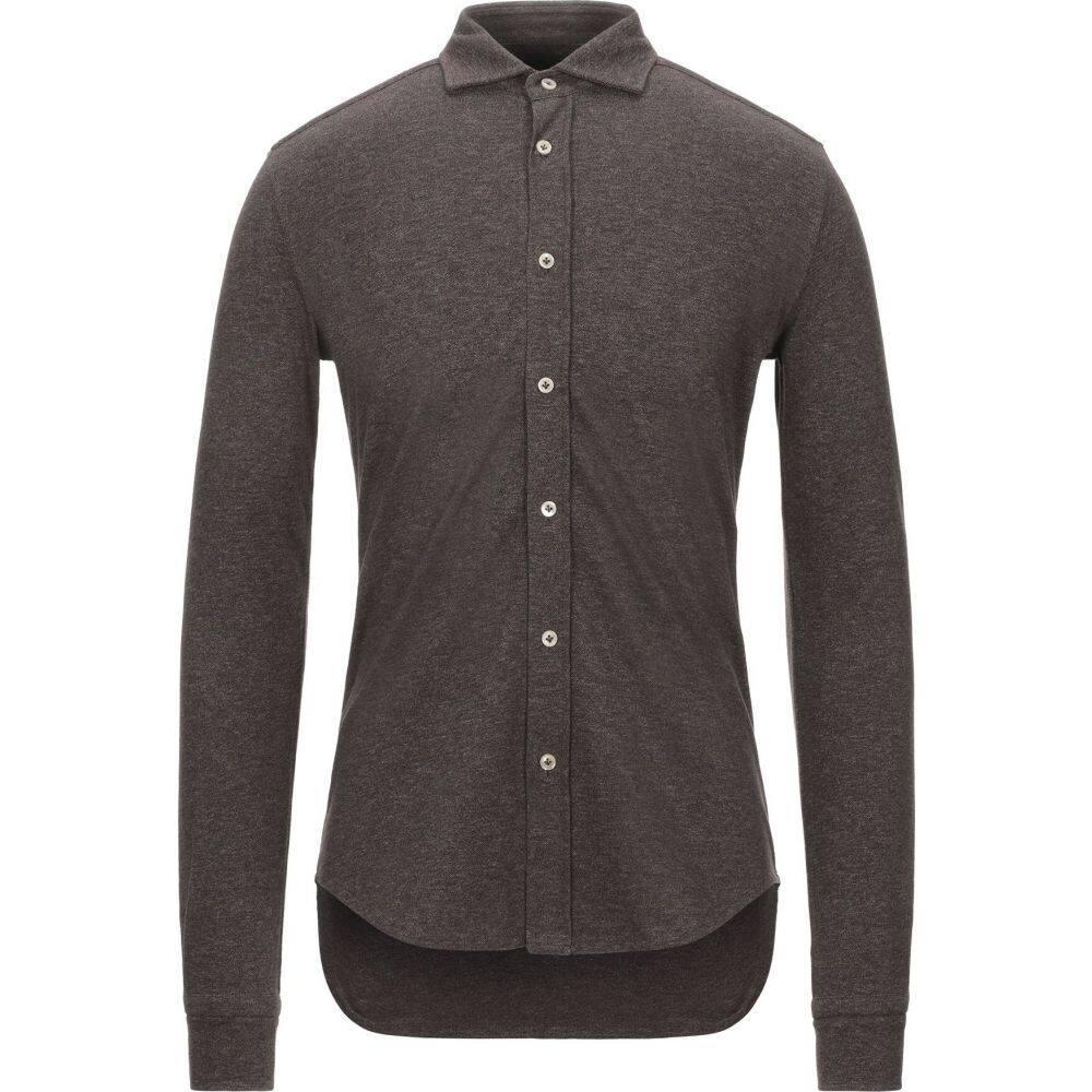 チルコロ1901 CIRCOLO 1901 メンズ シャツ トップス【patterned shirt】Dark brown