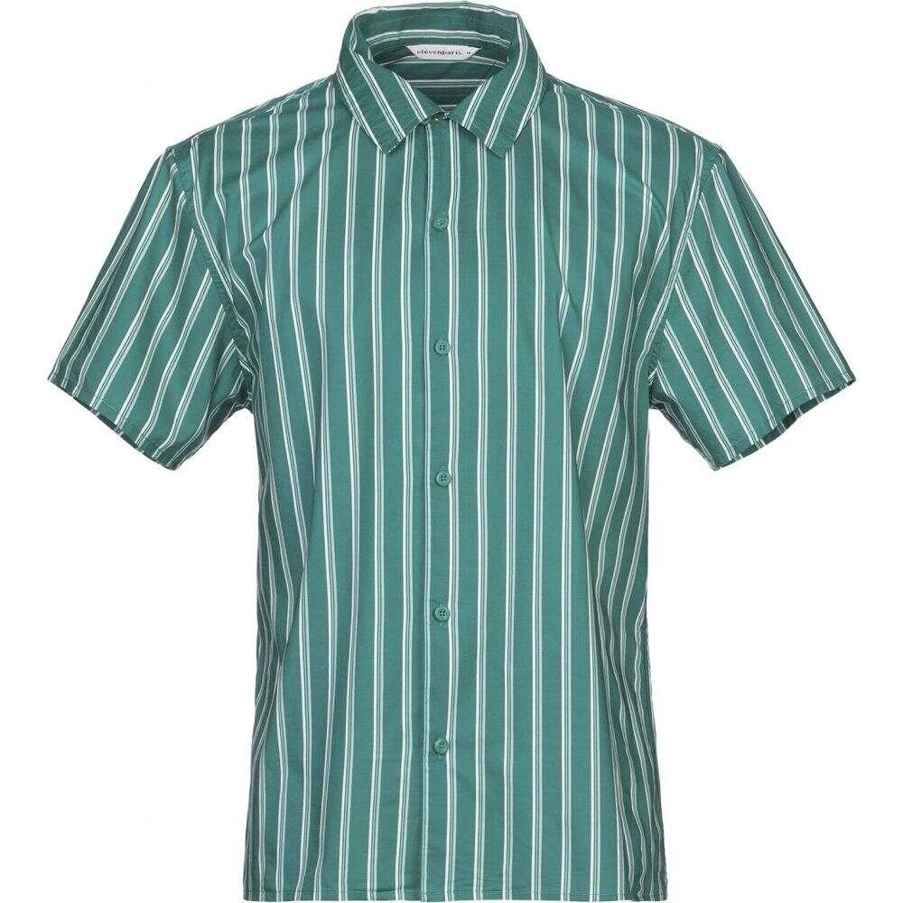 イレブン パリ ELEVEN PARIS メンズ シャツ トップス【striped shirt】Green