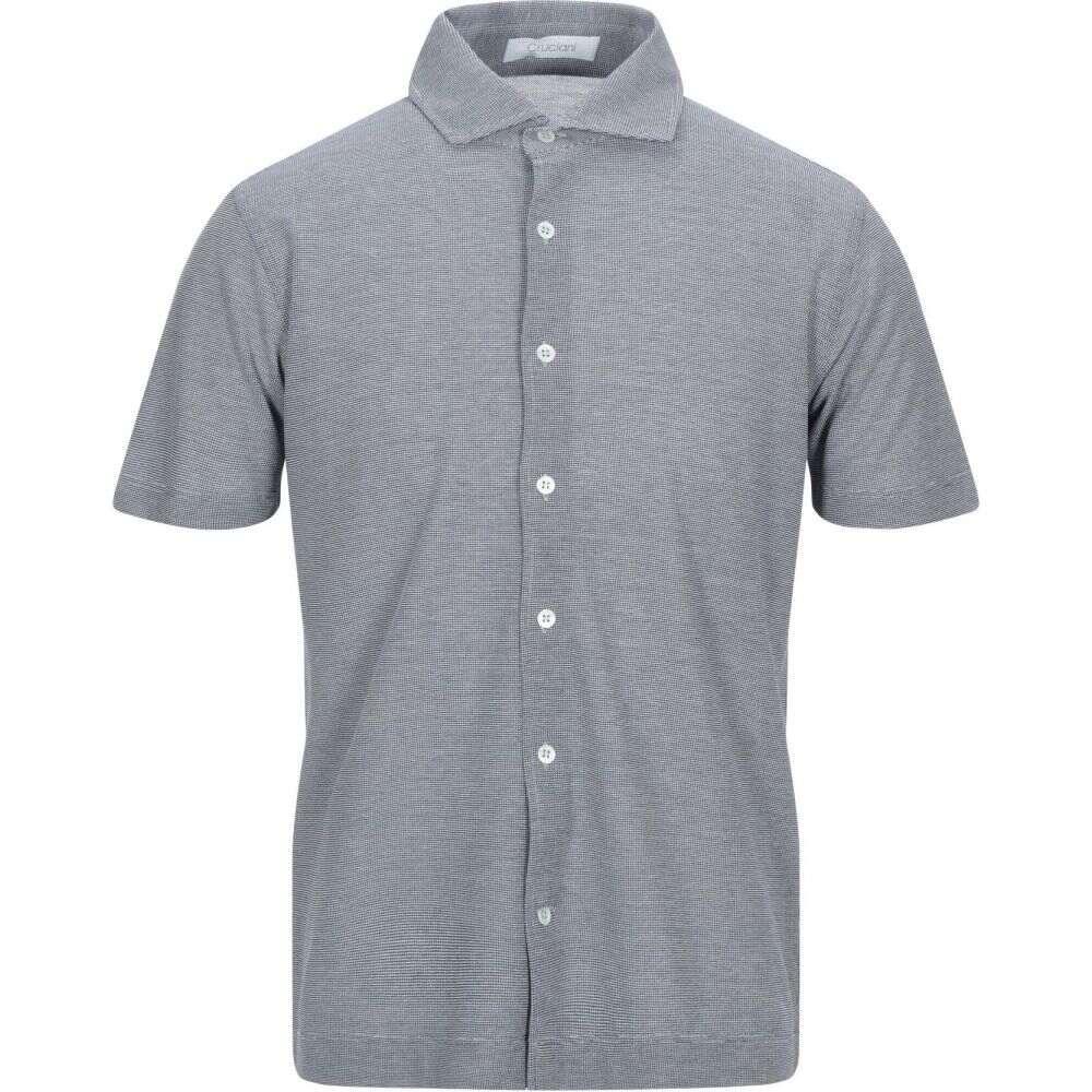 クルチアーニ CRUCIANI メンズ シャツ トップス【patterned shirt】Dark blue