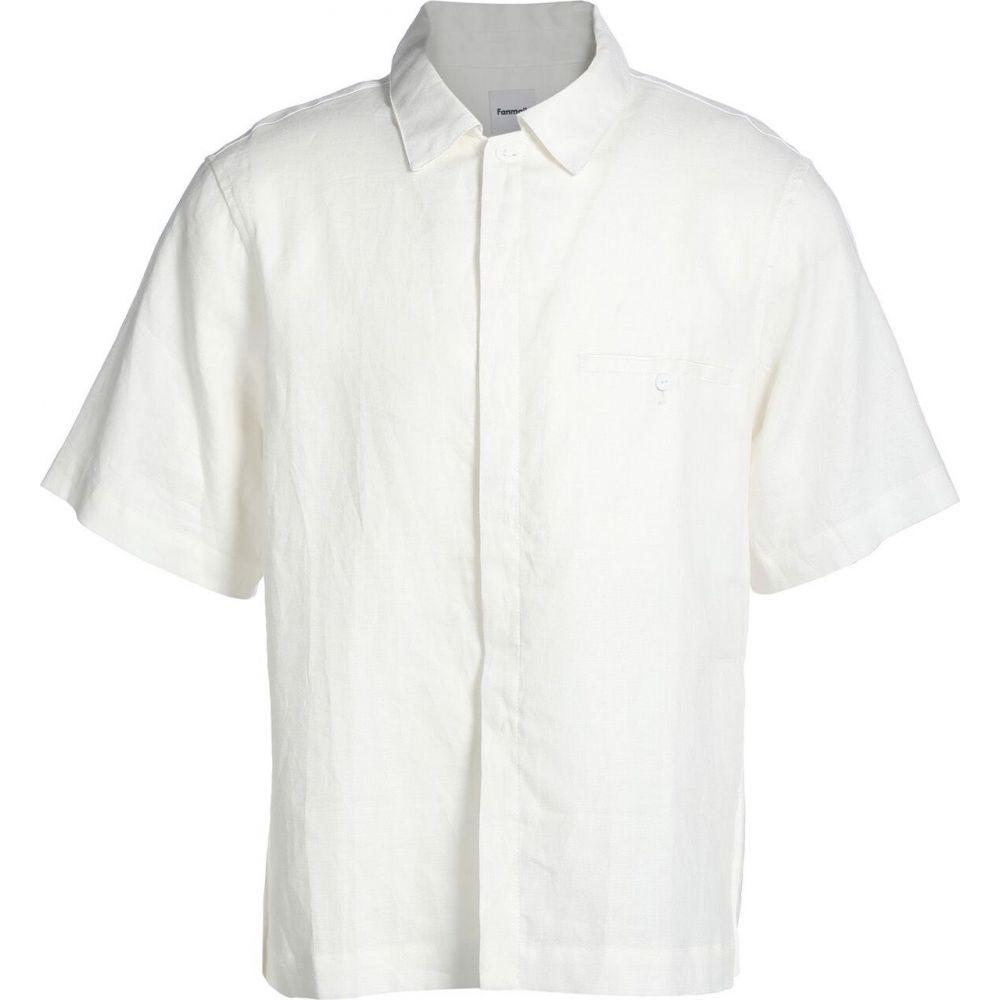 ファンメール FANMAIL メンズ シャツ トップス【linen shirt】Ivory