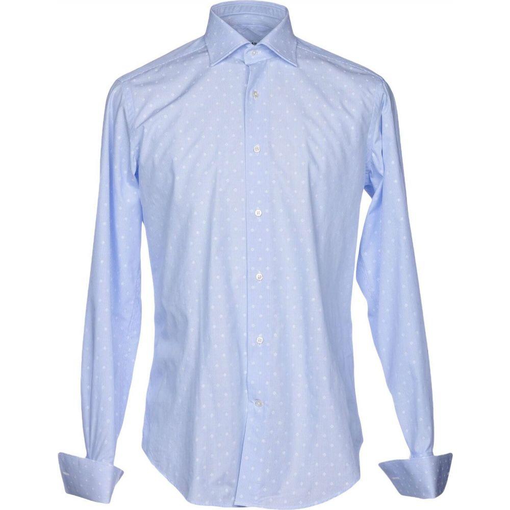 キャリバン CALIBAN メンズ シャツ トップス【striped shirt】Sky blue